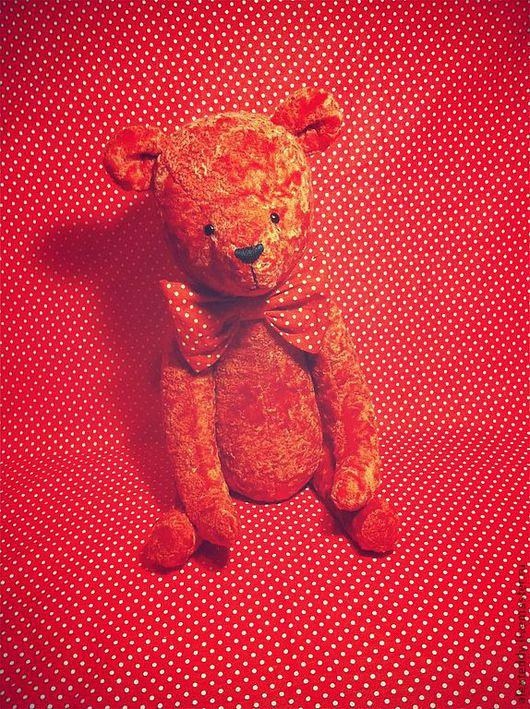 Мишки Тедди ручной работы. Ярмарка Мастеров - ручная работа. Купить Мишка Май. Handmade. Ярко-красный, красный, мишка