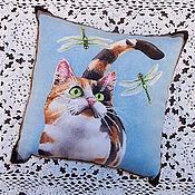 Для дома и интерьера ручной работы. Ярмарка Мастеров - ручная работа Кошка со стрекозами. Handmade.
