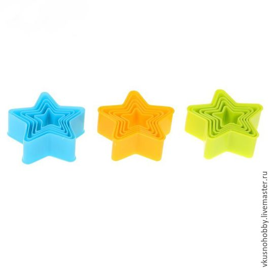 Другие виды рукоделия ручной работы. Ярмарка Мастеров - ручная работа. Купить Звезда пятиконечная (5 шт.) Резак, каттер, формочка, выемка. Пластик.. Handmade.