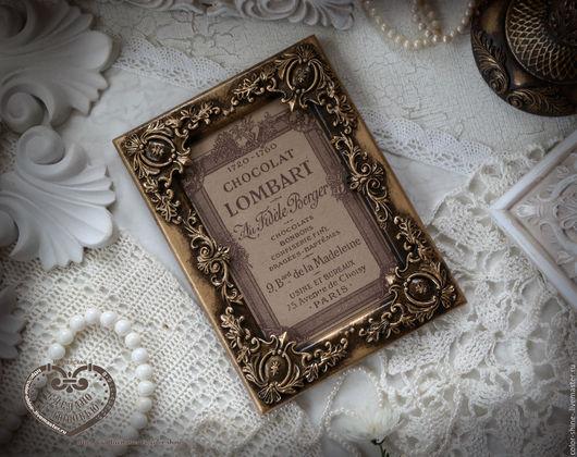 """Фоторамки ручной работы. Ярмарка Мастеров - ручная работа. Купить Фоторамка """"Музыка Версаля"""" в стиле рококо с имитацией старой бронзы. Handmade."""