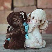 """Куклы и игрушки ручной работы. Ярмарка Мастеров - ручная работа Тедди Слоники """"Зефир в шоколаде"""". Handmade."""