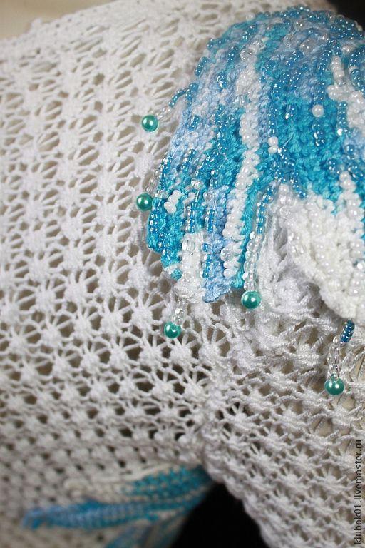 """Кофты и свитера ручной работы. Ярмарка Мастеров - ручная работа. Купить Туника """"Голубой клен"""". Handmade. Голубой, кленовый лист"""