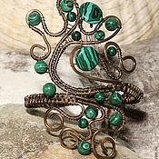 Украшения handmade. Livemaster - original item Bracelet with malachite Whirlpool. Handmade.