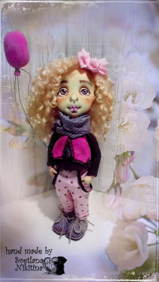 Коллекционные куклы ручной работы. Ярмарка Мастеров - ручная работа. Купить Текстильная кукла Карина.НЕТ В НАЛИЧИИ. Handmade.