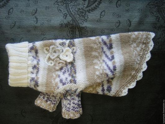 Одежда для собак, ручной работы. Ярмарка Мастеров - ручная работа. Купить Свитер для собачки меланж. Handmade. Комбинированный, вязанная одежда