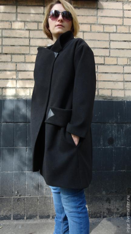 Верхняя одежда ручной работы. Ярмарка Мастеров - ручная работа. Купить Пальто кашемировое.. Handmade. Черный, пальто женское, гранж