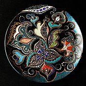 Посуда ручной работы. Ярмарка Мастеров - ручная работа Тарелка декоративная Riot of colors. Handmade.