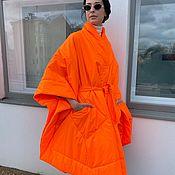 Одежда handmade. Livemaster - original item Orange kimono coat. Handmade.