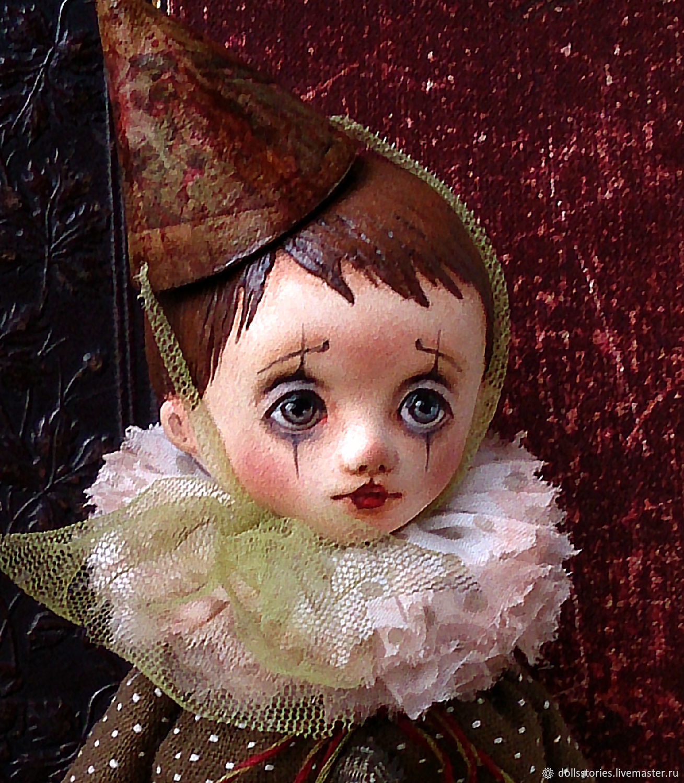 OOAK Art doll sad clown Louis, Boudoir doll, Moscow,  Фото №1