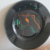 """Посуда ручной работы. Ярмарка Мастеров - ручная работа """"Кошачья радость"""". Handmade."""