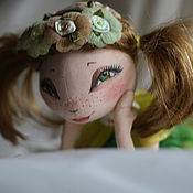 """Куклы и игрушки ручной работы. Ярмарка Мастеров - ручная работа Кукла из грунтованного текстиля,""""Воспоминания о лете"""". Handmade."""