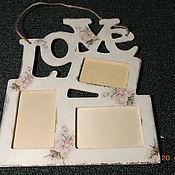 """Сувениры и подарки ручной работы. Ярмарка Мастеров - ручная работа Фото рамка """"LOVE AND ROSE"""" винтаж. Handmade."""