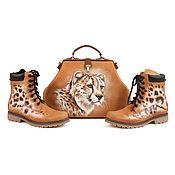 Сумки и аксессуары handmade. Livemaster - original item Set of leather shoes and bag
