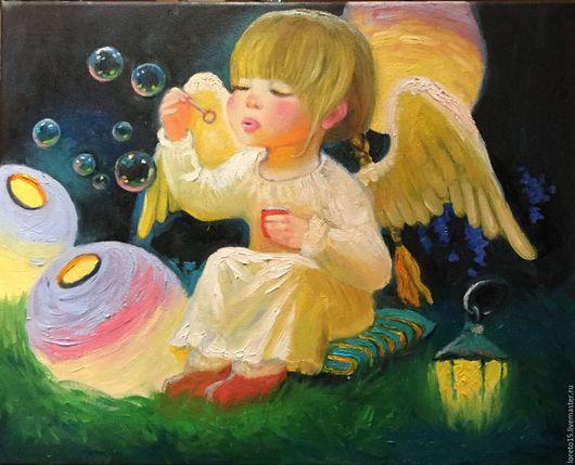 Люди, ручной работы. Ярмарка Мастеров - ручная работа. Купить Ангел и мыльные пузыри. Handmade. Ангел в подарок, девочка