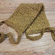 Мочалки ручной работы. Ярмарка Мастеров - ручная работа Мочалка из крапивного волокна. Handmade.