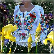 Одежда handmade. Livemaster - original item Women`s embroidery Polyanka. Handmade.