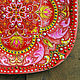 Decorative plate 'Russian soul' hand painted. Plates. Art by Tanya Shest. My Livemaster. Фото №4