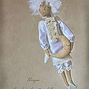 """Куклы и игрушки ручной работы. Ярмарка Мастеров - ручная работа """"Ангел-мальчик с месяцем"""" - авторская кофейная куколка. Handmade."""