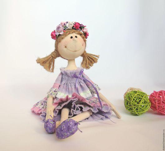 """Куклы тыквоголовки ручной работы. Ярмарка Мастеров - ручная работа. Купить Кукла текстильная  интерьерная """" Весенняя"""". Handmade. Ангелок"""