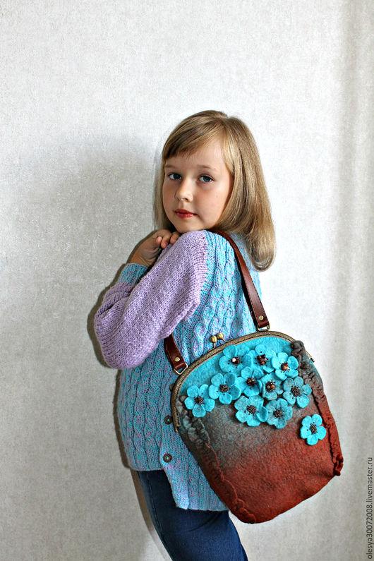 Женские сумки ручной работы. Ярмарка Мастеров - ручная работа. Купить Валяная сумка  Весна. Handmade. Комбинированный
