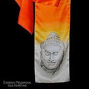 """Аксессуары ручной работы. Ярмарка Мастеров - ручная работа Шелковый шарф """"Камбоджа"""". Handmade."""