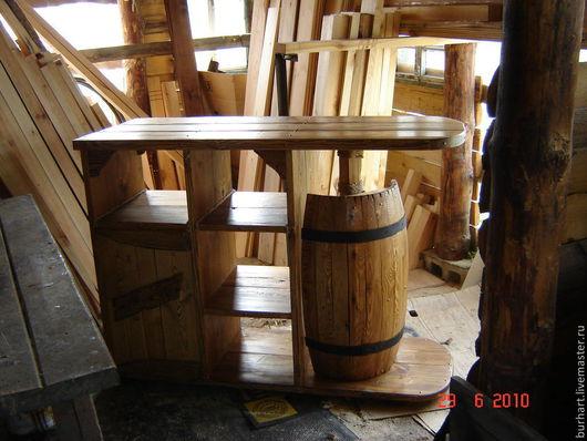Мебель ручной работы. Ярмарка Мастеров - ручная работа. Купить Барная стойка. Handmade. Коричневый, состаренное дерево, деревенский стиль