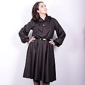 Одежда ручной работы. Ярмарка Мастеров - ручная работа Платье с воротником, переходящим в бант. Handmade.