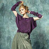 Одежда ручной работы. Ярмарка Мастеров - ручная работа Блуза ассиметричная с митенками.. Handmade.