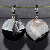 Украшения handmade. Livemaster - original item Large earrings natural stone agate. Handmade.