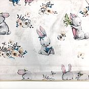 Материалы для творчества handmade. Livemaster - original item 100% cotton, Poland, bunnies. Handmade.