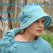 """Аксессуары ручной работы. Ярмарка Мастеров - ручная работа Мастер-класс по вязанию шляпы """"Водопад роз"""". Handmade."""