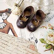 Куклы и игрушки ручной работы. Ярмарка Мастеров - ручная работа Привет из прошлого.Туфли для куклы. Handmade.