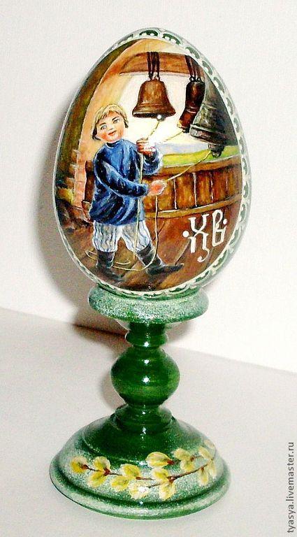 """Яйца ручной работы. Ярмарка Мастеров - ручная работа. Купить Яйцо """"ХВ"""". Handmade. Зеленый, яйцо пасхальное, ручная роспись"""