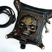 Backpacks handmade. Livemaster - original item Backpack Zombie. Hip bag. Skull.. Handmade.
