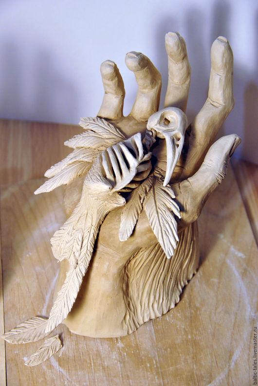 """Элементы интерьера ручной работы. Ярмарка Мастеров - ручная работа. Купить Керамическая скульптура """"В наших руках"""". Handmade. Белый"""