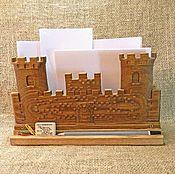 """Линейки ручной работы. Ярмарка Мастеров - ручная работа Подставка """"Замок"""" - Бумага для заметок. Handmade."""