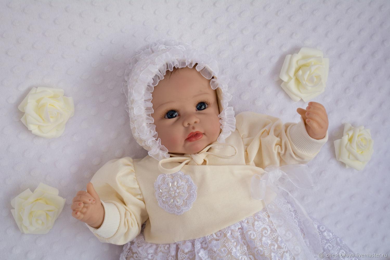 Для новорожденных, ручной работы. Ярмарка Мастеров - ручная работа. Купить Комплект на выписку  для новорожденного.комплект для девочки. Handmade. Белый