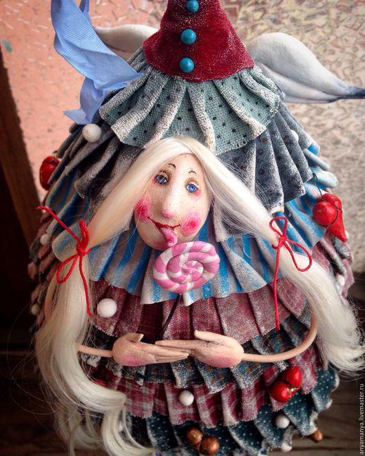 Коллекционные куклы ручной работы. Ярмарка Мастеров - ручная работа. Купить Елка с леденцом. Handmade. Комбинированный, сластена, Японский хлопок