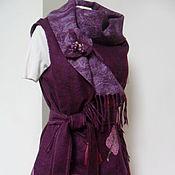 """Одежда ручной работы. Ярмарка Мастеров - ручная работа Жилет """"Ежевичный меланж"""". Handmade."""