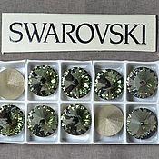 Материалы для творчества handmade. Livemaster - original item 1 PCs 12mm Rivoli Black Diamond 215 Swarovski Rivoli Swarovski. Handmade.