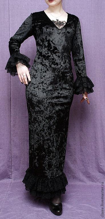 Платья ручной работы. Ярмарка Мастеров - ручная работа. Купить Элегантное платье. Handmade. Вечернее платье, бархатное платье