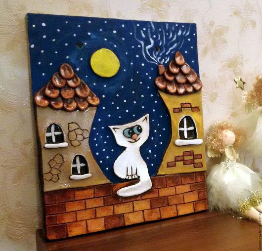 Панно `Кот на крыше`