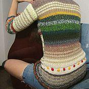 Одежда ручной работы. Ярмарка Мастеров - ручная работа Пёстрые полоски. Handmade.