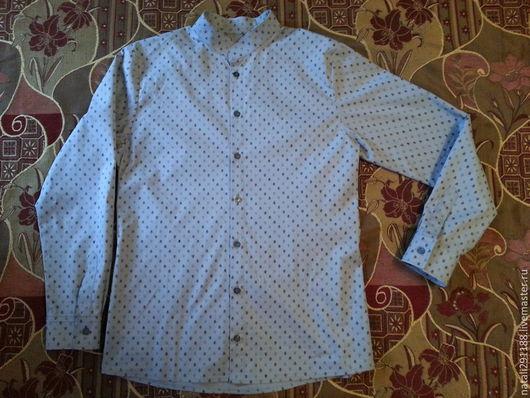 Для мужчин, ручной работы. Ярмарка Мастеров - ручная работа. Купить мужская рубашка. Handmade. Серый, синий цвет