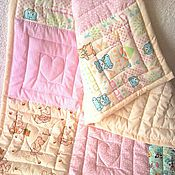 """Для дома и интерьера ручной работы. Ярмарка Мастеров - ручная работа Лоскутное одеяло """"Сливочная пастила"""". Handmade."""