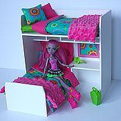 Куклы и игрушки ручной работы. Ярмарка Мастеров - ручная работа Румбокс для куколок до 30 см Monster High, Ever After High, Barbie, др. Handmade.