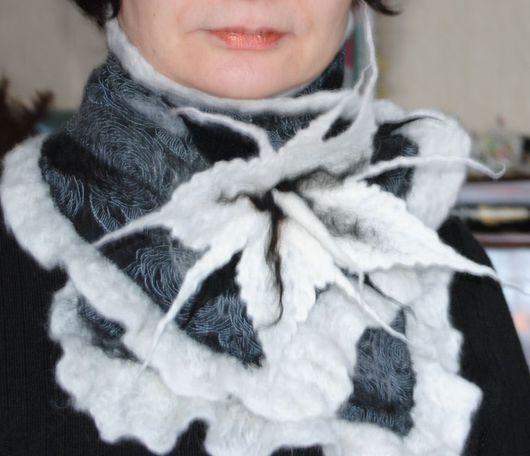 Шарфы и шарфики ручной работы. Ярмарка Мастеров - ручная работа. Купить Снежная королева. Handmade.