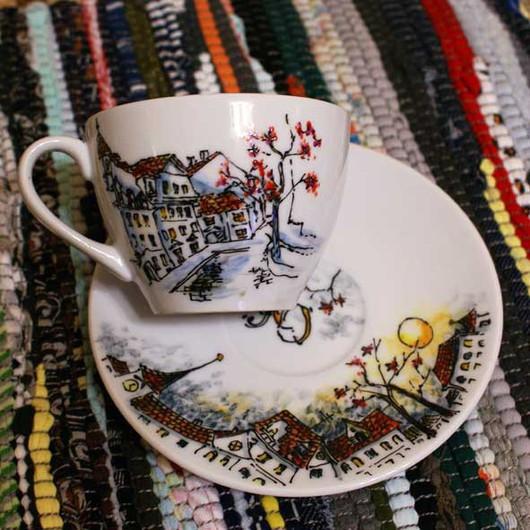 Сервизы, чайные пары ручной работы. Ярмарка Мастеров - ручная работа. Купить Прага. Handmade. Прага, чайная пара, посуда
