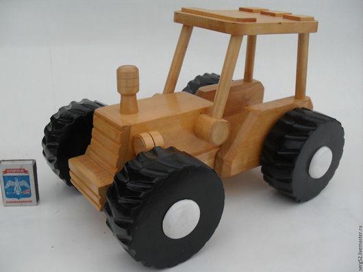 Техника ручной работы. Ярмарка Мастеров - ручная работа. Купить трактор деревянный игрушка. Handmade. Лимонный, подарок на новый год