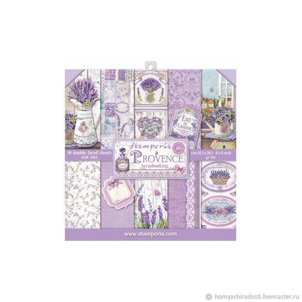"""Набор бумаги Stamperia Provence Paper Pad 8""""X8"""" 10/Pkg, Бумага, Пушкин,  Фото №1"""